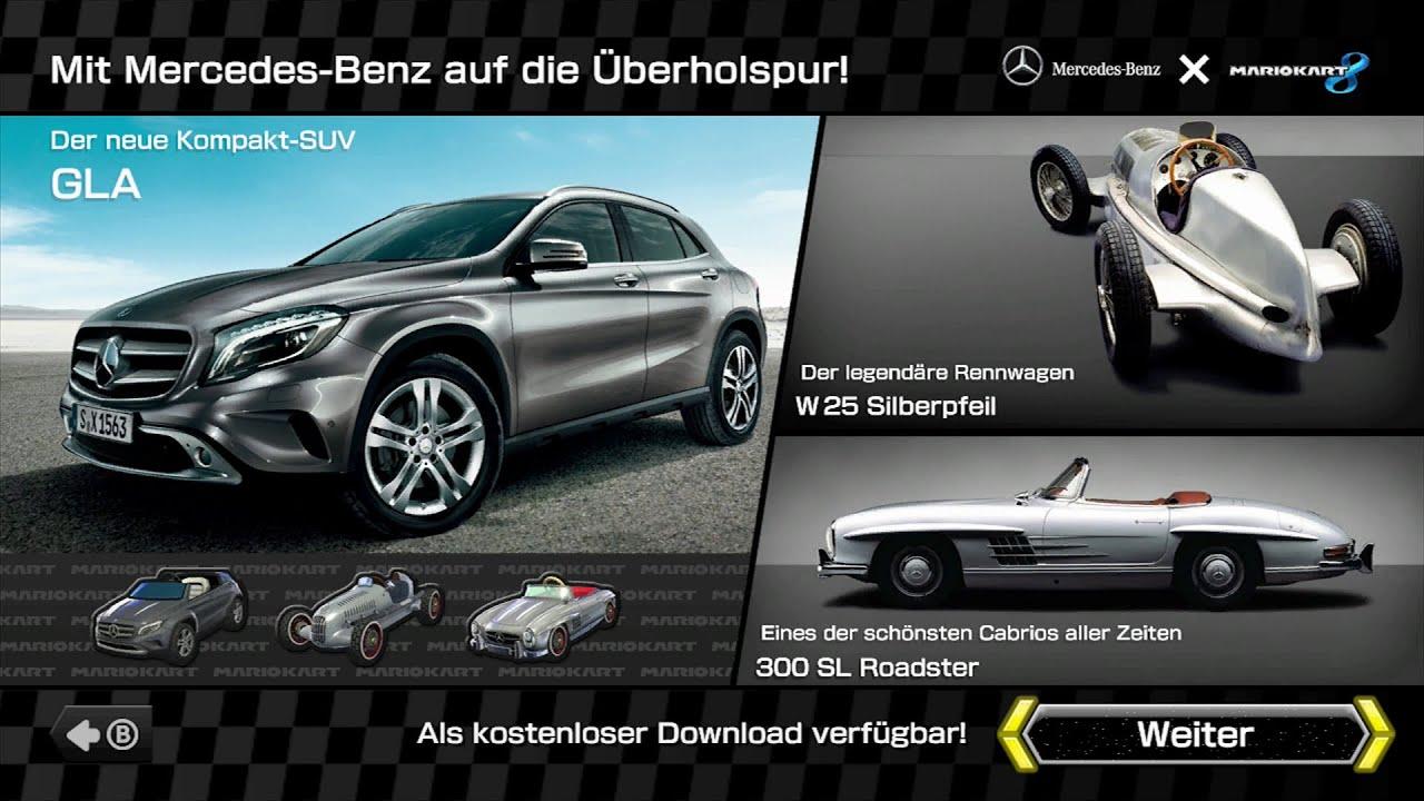 mario kart 8 mercedes-benz dlc gameplay - youtube