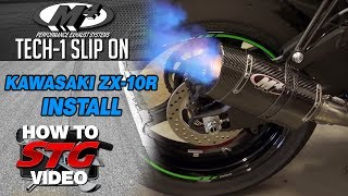 M4 2016 Kawasaki ZX-10R Tech 1 Slip On Install from Sportbiketrackgear.com