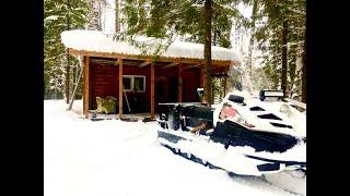 Красивейшая изба в зимнем лесу Рыбалка и отдых на таежной реке