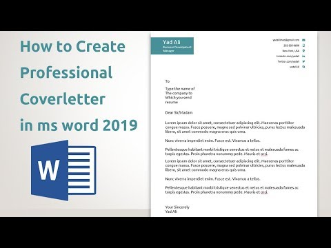 How To Create Professional Cover Letter Templates In Ms Word 2019