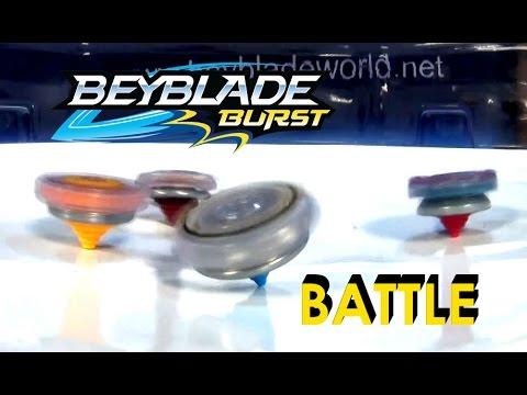 Beyblade Burst By Hasbro 2 Pack Tag Team Series 3  Nepstrius/ Roktavor VS Spryzen/Odax 4 Way Battle
