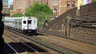 Metro North : Croton-Harmon & Grand Central Bound Trains Entering & Leaving The Park Ave Tunnel