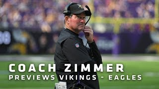 Zimmer on Cousins' Strong Start, Pass Defense Issues, Challenges vs. Eagles | Minnesota Vikings