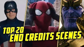Top 20 Marvel Cinematic Universe End Credits Scenes