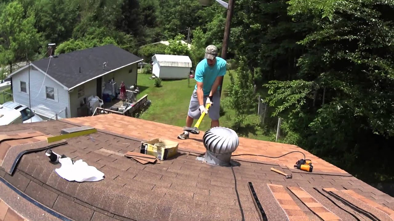 derek hurst removes a turbine vent from a roof with a sledge hammer youtube - Turbine Roof Vents