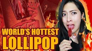 World's HOTTEST Lollipop Challenge: THE TOE OF SATAN