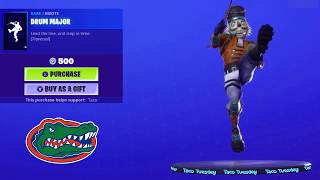 "Fortnite One Hour Emotes!! ""Crackshot"" Dancing ""Drum Major"" Emote to Florida Gators Fight Song!!"