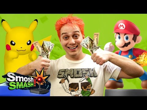 AMIIBO COCK FIGHTING! (Smosh SMASH!)