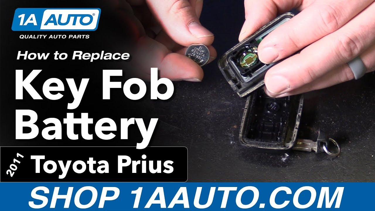 how to change battery on prius key