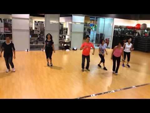 """""""San Antonio baby"""" Line dance @celebrity fitness"""
