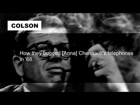 Richard Nixon and Charles Colson on 1968 Campaign Surveillance July 1 1972