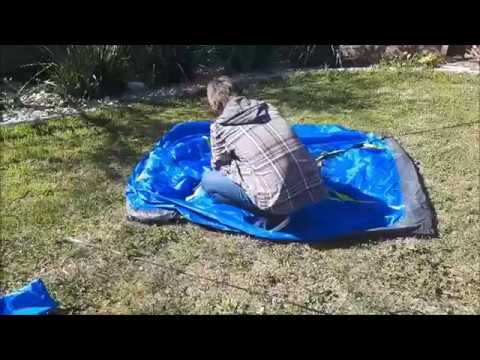 Dome Tent Set Up Tutorial Kmart Edition & Dome Tent Set Up Tutorial Kmart Edition - YouTube