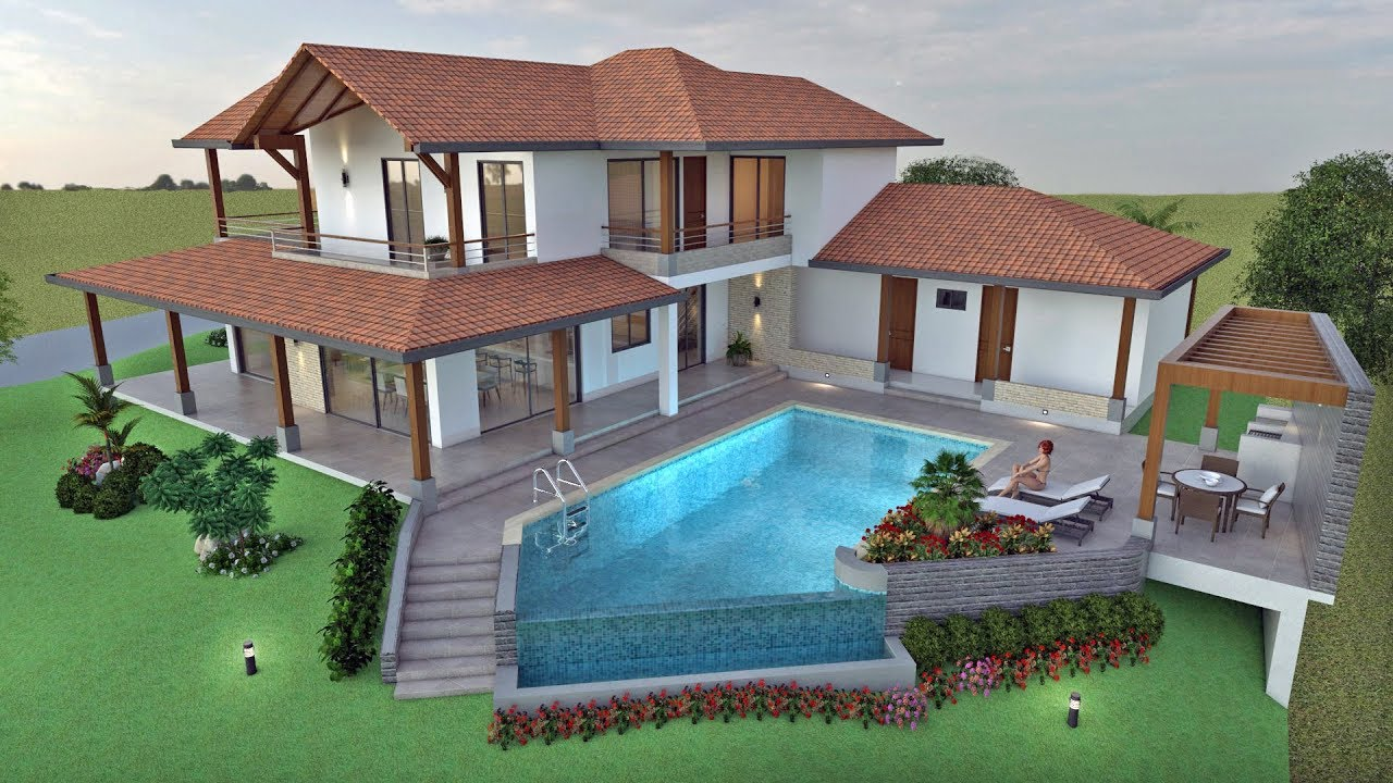 Planos de casa campestre dise o moderno en dos pisos for Casa moderno kl