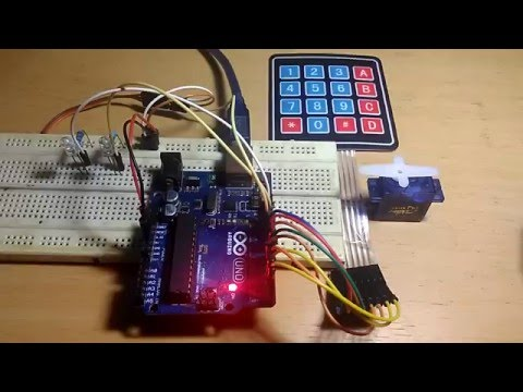 Arduino Keypad Password Servo Youtube