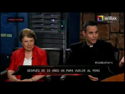 P. Mario Arroyo y Dra. Carmela Aspíllaga comentan el recibimiento del Papa en el Perú.
