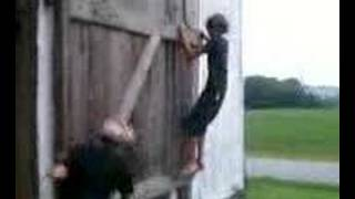 Barn Door Swinging