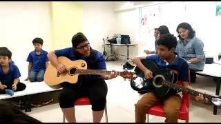 Bhupali sargam acoustic guitar naman mahika jayaa naad global music school
