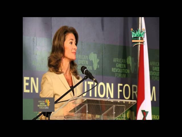 A Green Revolution Forum (2012): Melinda Gates speech at AGRF, Tanzania Pt. 1