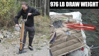 15th Century Windlass Spanned Crossbow - First Test thumbnail