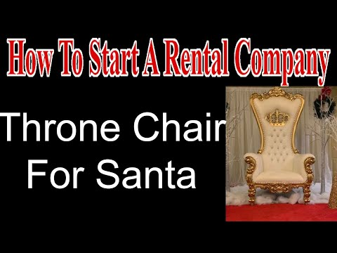 Throne Chair For Santa - Start A Party Rental Company
