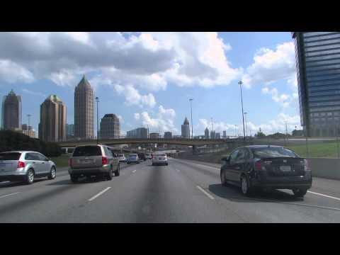 Manejando desde casa al centro de Atlanta
