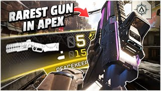 THIS is the RAREST WEAPON in Apex, the GOLDEN Peacekeeper - Apex Legends Season 5