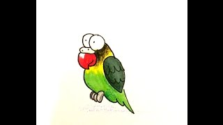 How to Draw a Cartoon Lovebird