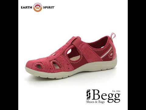 Earth Spirit Cleveland 91 30200-80 Red Closed Toe Sandals