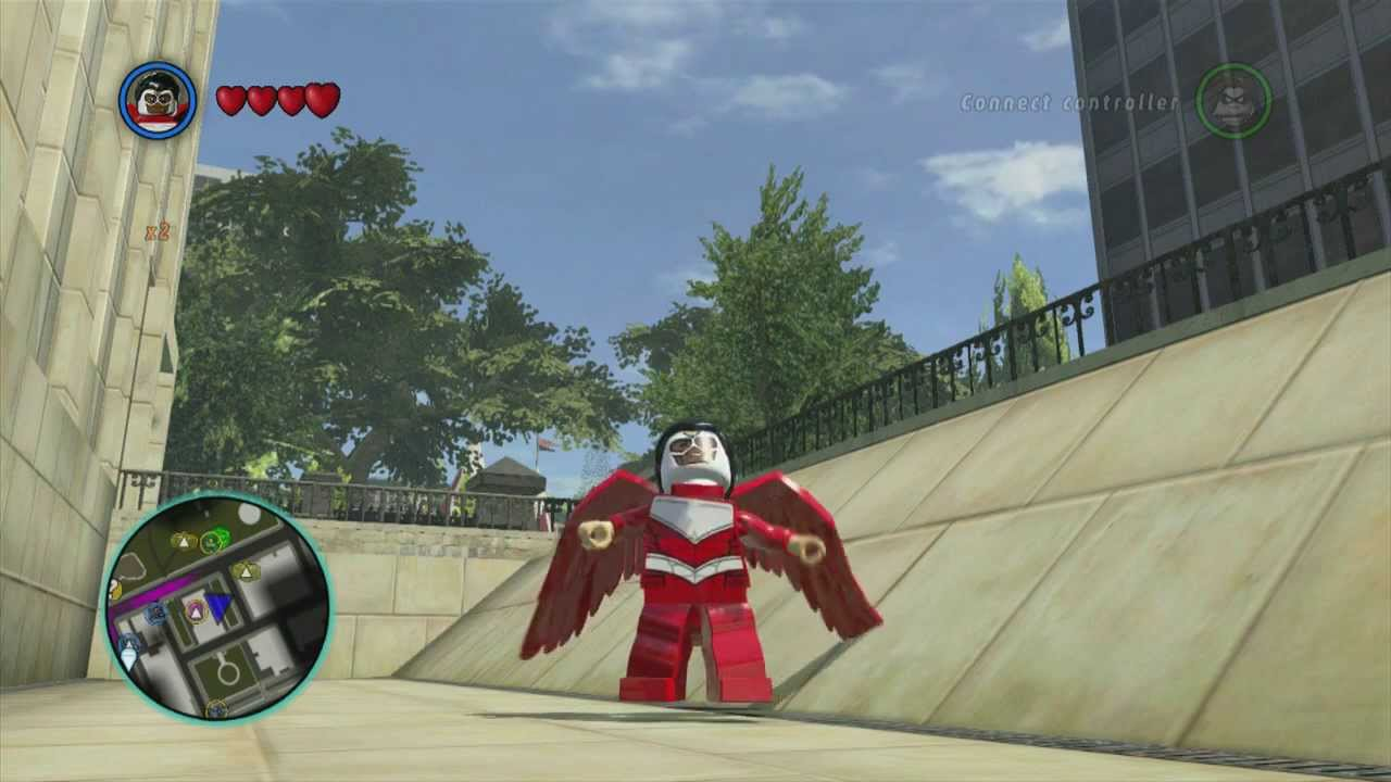 Lego Marvel Superheroes Falcon Gameplay Youtube