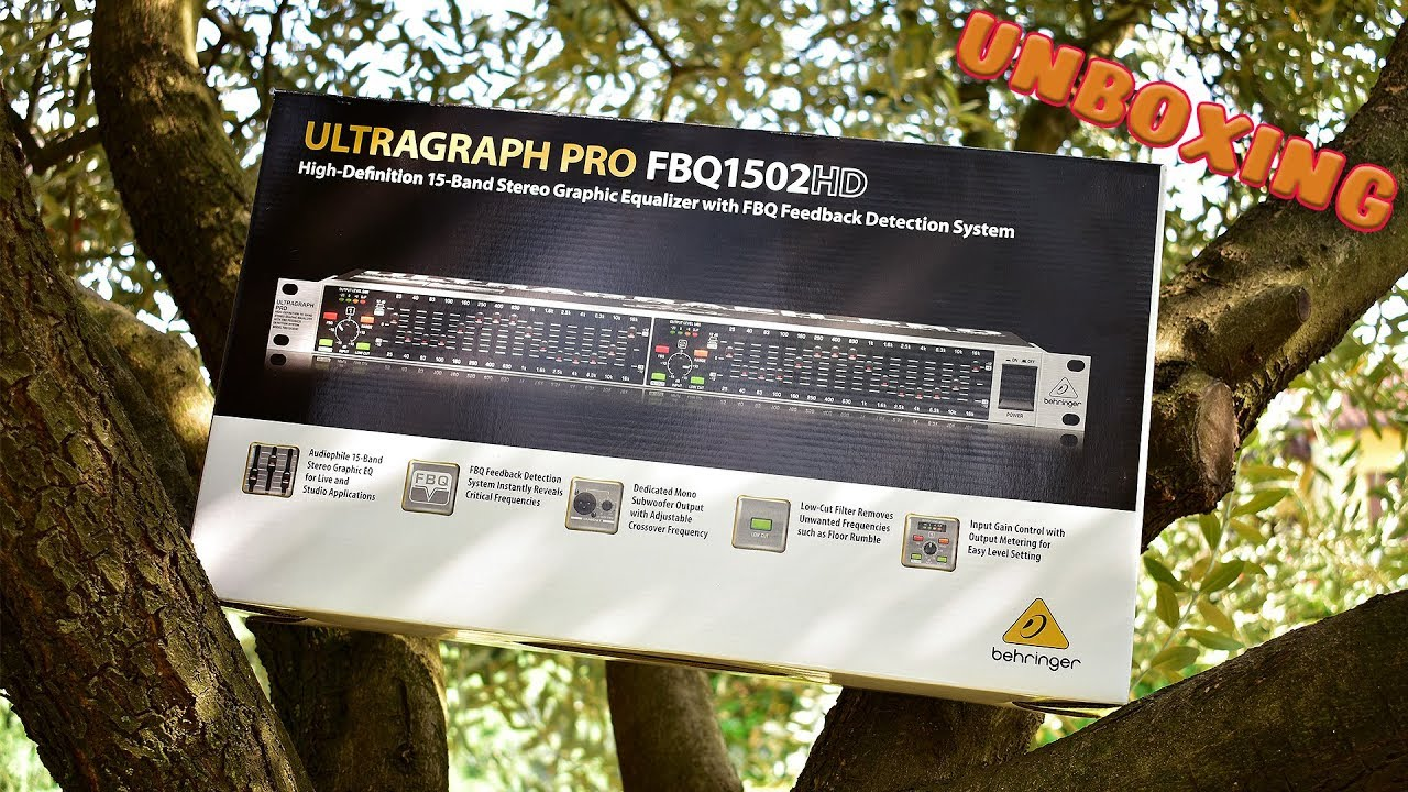 Behringer Ultragraph Pro Fbq1502hd Unboxing Ita Youtube 221510 Band Stereo Graphic Equaliser