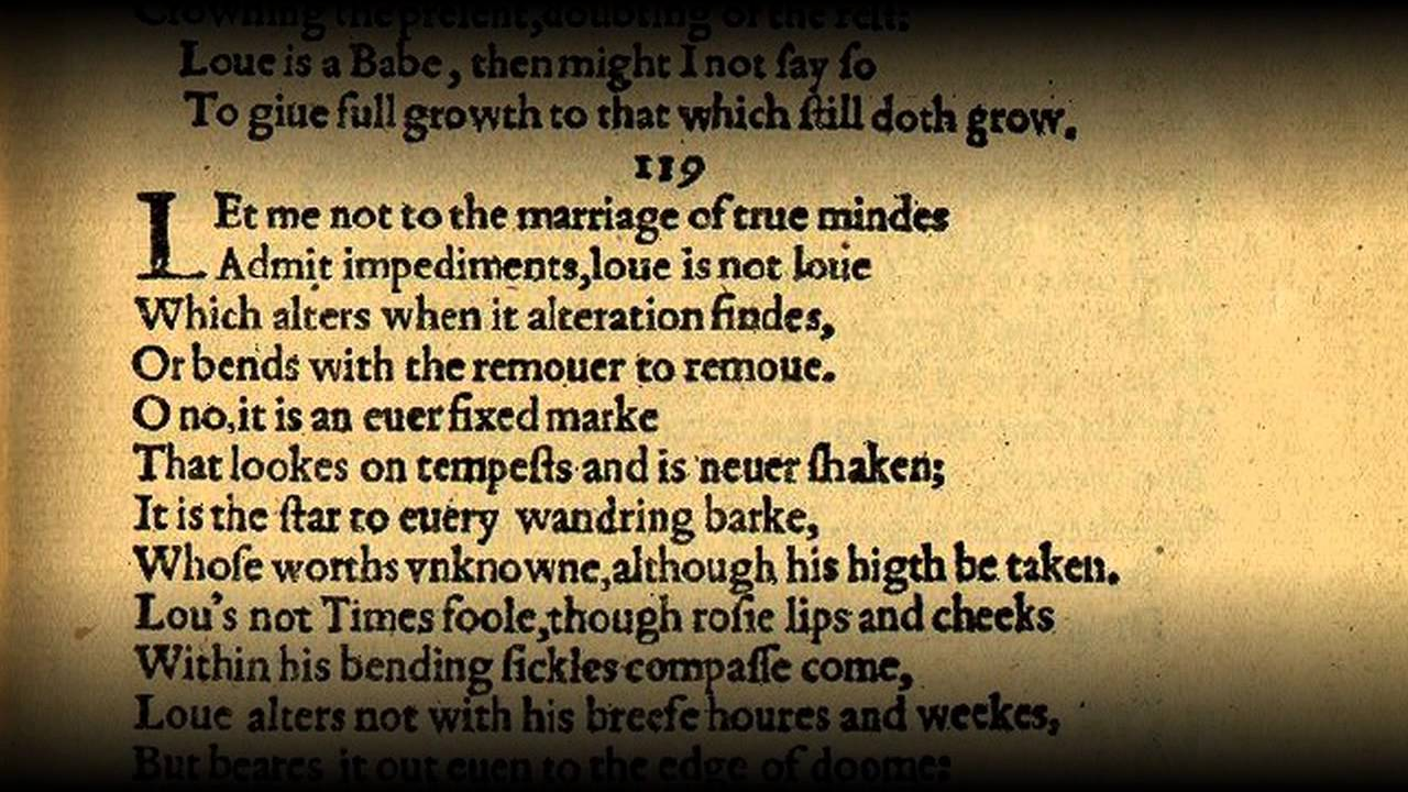 Sonnet 116 by William Shakespeare - YouTube