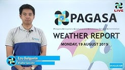 Public Weather Forecast Issued at 4:00 AM August 19, 2019