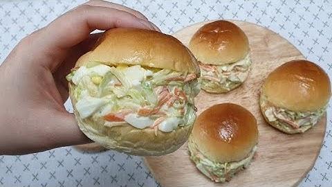 추억의 사라다빵(샐러드빵)salad bread