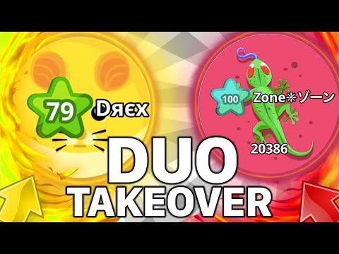 DUO SERVER TAKEOVER AGARIO (Agar.io Mobile Gameplay)