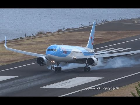 B767 Thomson Airways (TUI) Roaring Loudly || Madeira