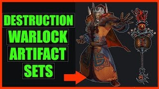 10 Cool Destruction Warlock Artifact Sets WoW Legion | Scepter of Sargeras Transmog
