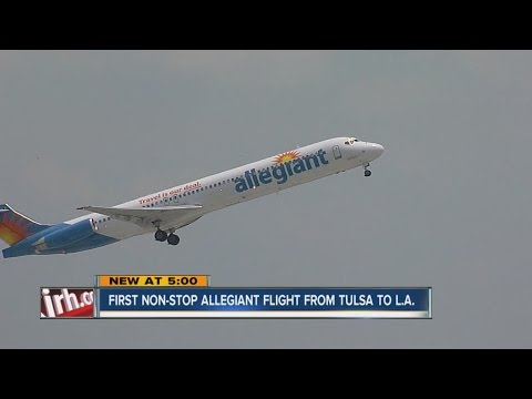 First Non-Stop Allegiant Flight From Tulsa To L.A.