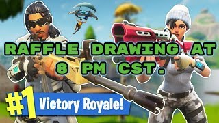 JOIN *RAFFLE DRAWING GIVEAWAY!* 8 PM CST. (NEW) RAVEN SKIN FORTNITE PC FOLLOW TWITCH, MIXER ,