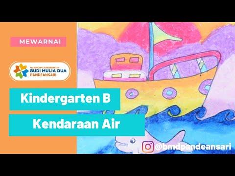Ekstrakurikuler Mewarnai Kendaraan Di Air Kindergarten B Youtube