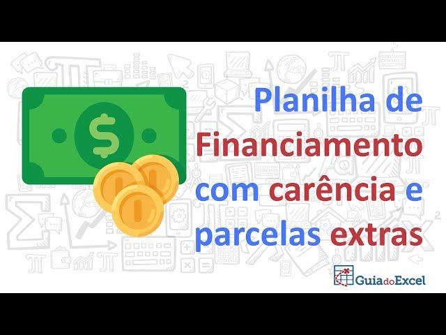 Planilha Price SAC com carência e extras