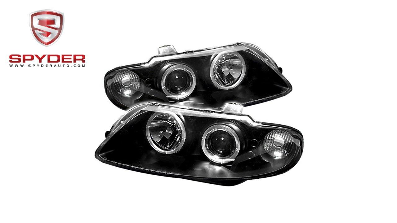 Pontiac Headlight Led Wiring Electrical Diagrams Headlamp Harness Spyder Gto 04 06 Projector Headlights Halo Black United Pacific