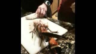 Preparing Cantonese Style Lobster