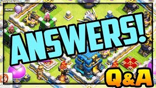 ALL QUESTIONS ANSWERED! Clash of Clans Answers of ALL Kinds!