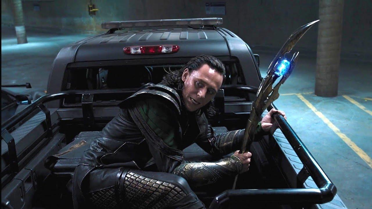 Chasing Loki Scenes - The Avengers (2012) movie scenes