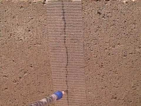 Repairing Vertical S In Concrete Block Wall With Roadware 10 Minute Mender You