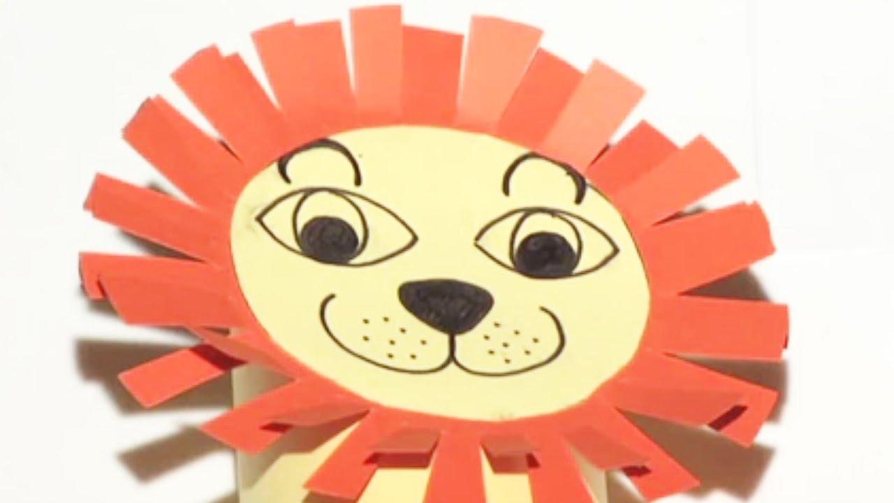 fabriquer un lion en carton youtube. Black Bedroom Furniture Sets. Home Design Ideas