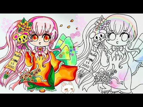 Vẽ chibi anime mùa xuân 🌼thiếu nữ hoa mai