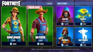 *NEW* SUNFLOWER & HAYSEED SKIN! VICTORY ROYALE WITH NEW SKIN! (Fortnite Item shop 6th March)