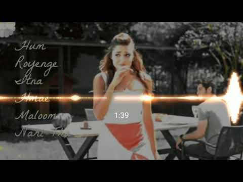 Hum Royenge Itna Hme Malum Nhii Tha Hi Fi Toing Mix Dj Song Flp