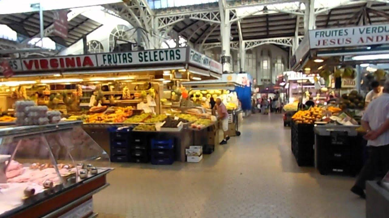 スペインの旅 ★ ラ・ロンハ前の中央市場 Mercado Central - Valencia ...